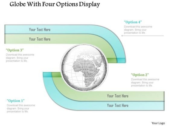 Business Diagram Globe With Four Options Display Presentation Template
