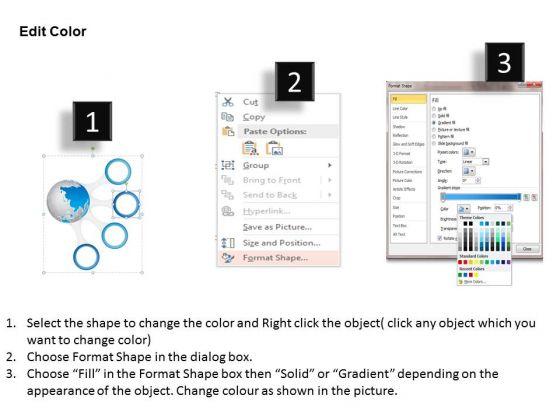 business_diagram_globe_with_four_points_agenda_diagram_presentation_template_3