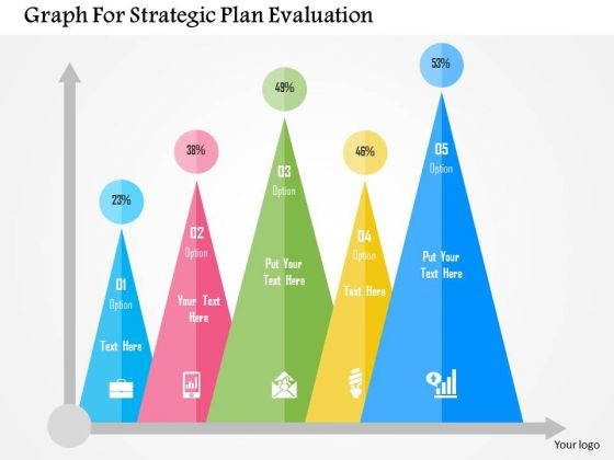 business diagram graph for strategic plan evaluation presentation, Presentation templates