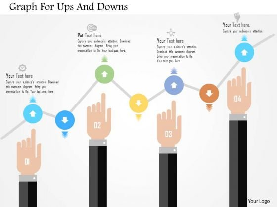Business Diagram Graph For Ups And Downs Presentation Template