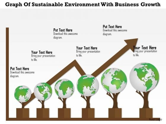 Business Diagram Graph Of Sustainable Environment With Business