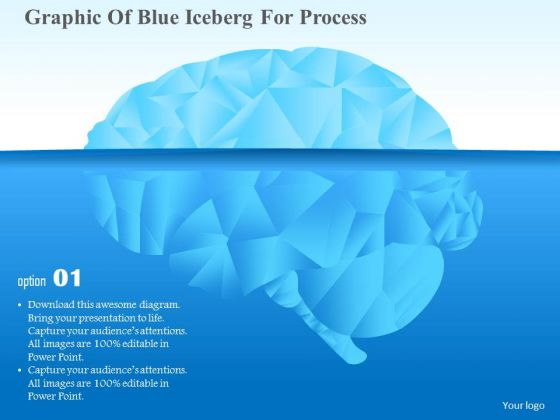 Business Diagram Graphic Of Blue Iceberg For Process Presentation Template