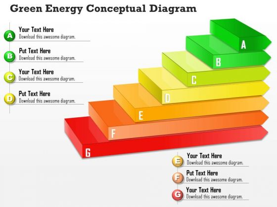 Business Diagram Green Energy Conceptual Diagram PowerPoint Ppt Presentation