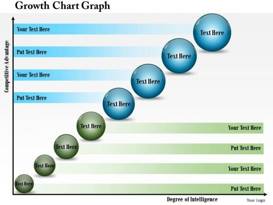 Business Diagram Growth Chart Graph Presentation Template
