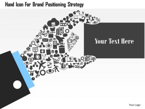 Business Diagram Hand Icon For Brand Positioning Strategy Presentation Template