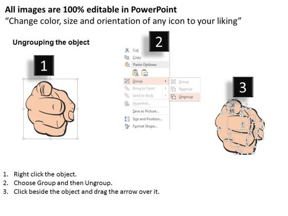 business_diagram_hand_pointing_with_text_place_presentation_template_2