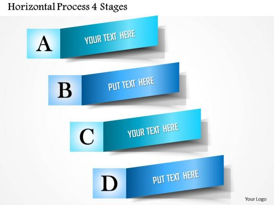 Business Diagram Horizontal Process 4 Stages Presentation Template