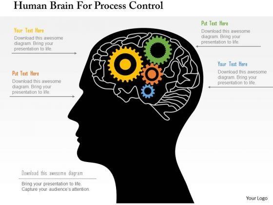 Business Diagram Human Brain For Process Control Presentation Template