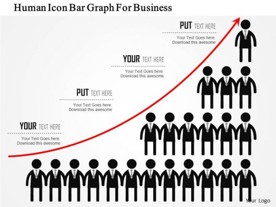 Business Diagram Human Icon Bar Graph For Business Presentation Template
