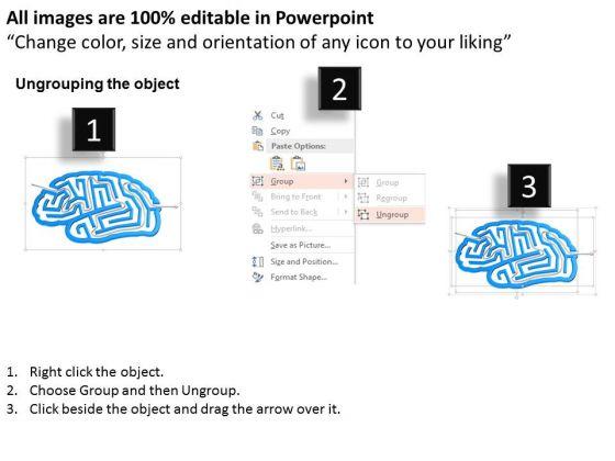business_diagram_human_mind_shape_maze_with_arrow_powerpoint_template_2
