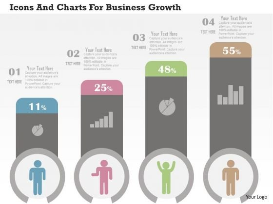 Business Diagram Icons And Charts For Business Growth Presentation Template