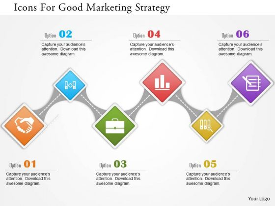 business diagram icons for good marketing strategy presentation