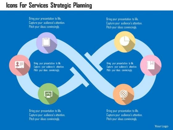 Business Diagram Icons For Services Strategic Planning Presentation Template