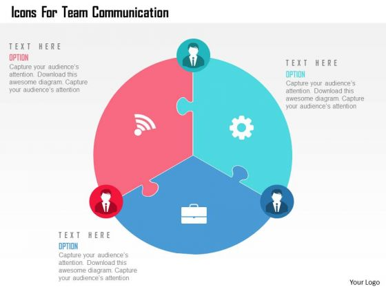 Business Diagram Icons For Team Communication Presentation Template