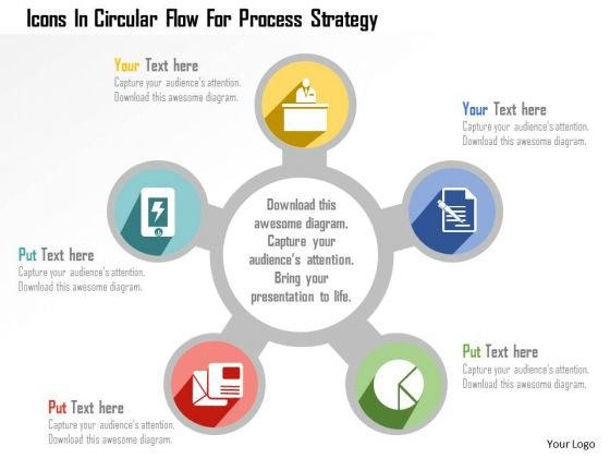 Business Diagram Icons In Circular Flow For Process Strategy ...