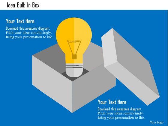 Business Diagram Idea Bulb In Box Presentation Template
