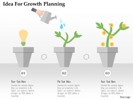 Business Diagram Idea For Growth Planning Presentation Template