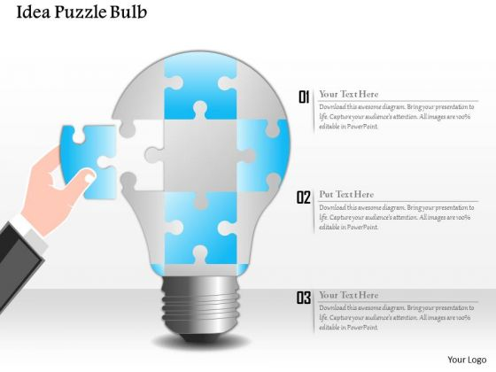 Business Diagram Idea Puzzle Bulb Presentation Template