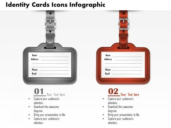 Business Diagram Identity Cards Icons Infographic Presentation Template
