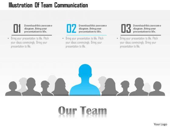 Business Diagram Illustration Of Team Communication Presentation Template