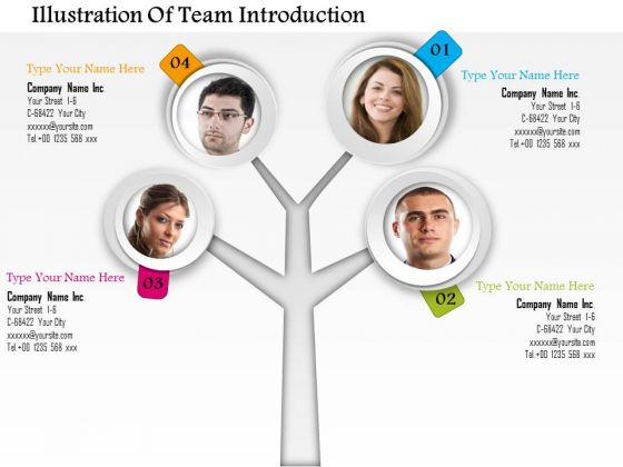 Business Diagram Illustration Of Team Introduction Presentation Template