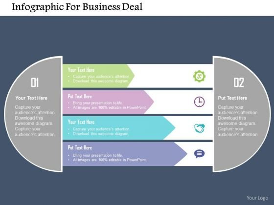 Business Diagram Infographic For Business Deal Presentation Template