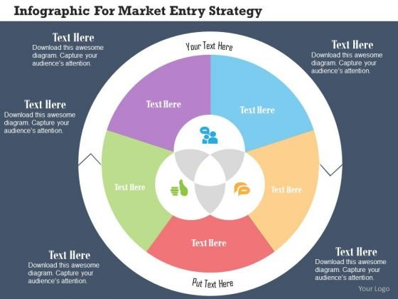 Business Diagram Infographic For Market Entry Strategy Presentation Template