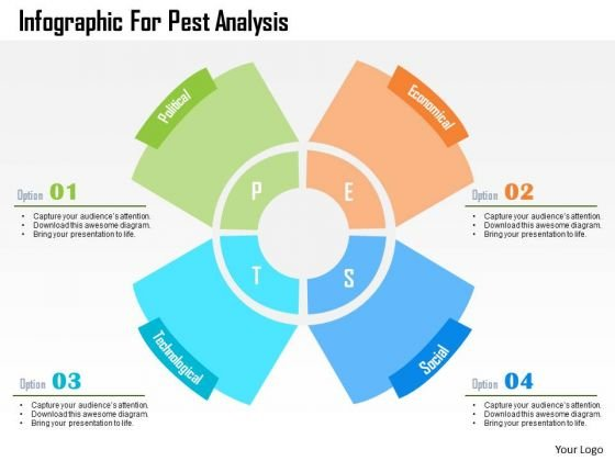 Business Diagram Infographic For Pest Analysis Presentation Template