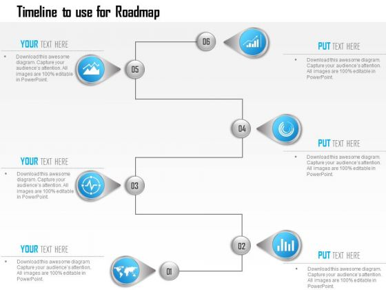 Business Diagram Infographic Template Showing Timeline To Use For - Timeline roadmap template