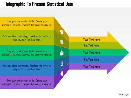 Business Diagram Infographic To Present Statistical Data Presentation Template