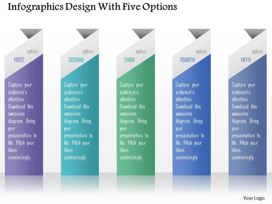 Business Diagram Infographics Design With Five Options Presentation Template