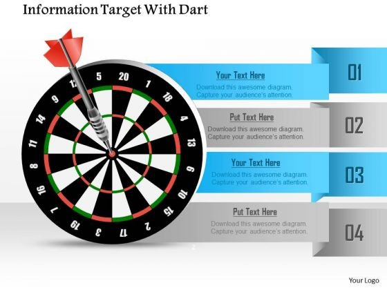 Business Diagram Information Target With Dart Presentation Template