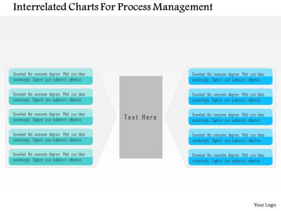 Business Diagram Interrelated Charts For Process Management Presentation Template