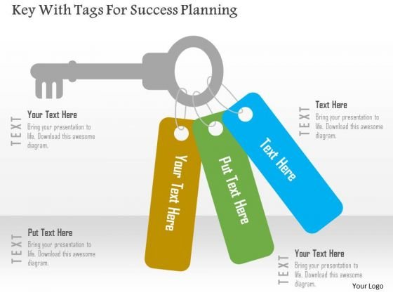 Business Diagram Key With Tags For Success Planning Presentation Template