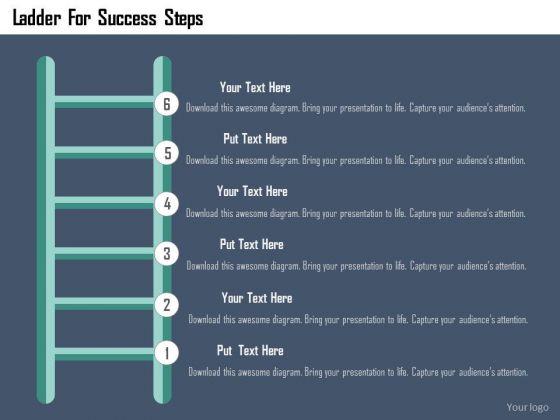 Business Diagram Ladder For Success Steps Presentation Template