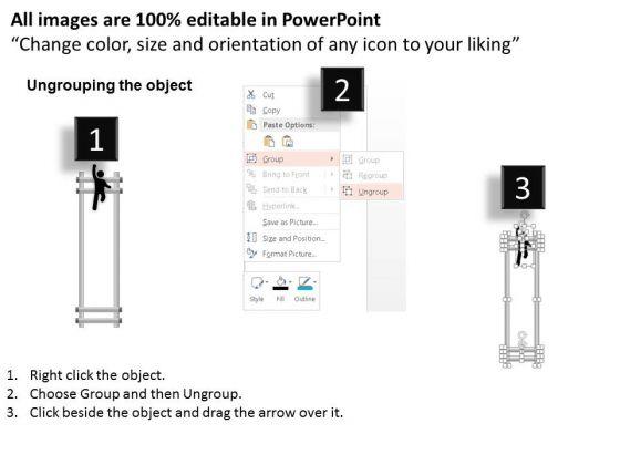 business_diagram_ladder_with_success_text_3d_man_climbing_over_presentation_template_2