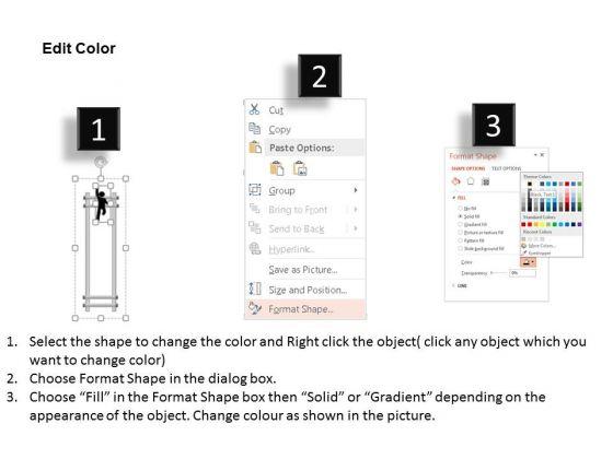 business_diagram_ladder_with_success_text_3d_man_climbing_over_presentation_template_3