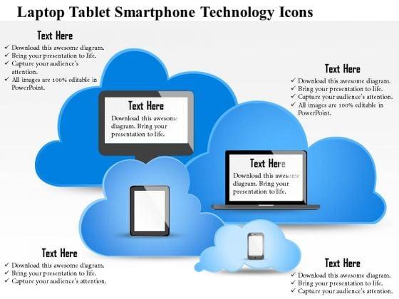 Business Diagram Laptop Tablet Smartphone Technology Icons Presentation Slide Template