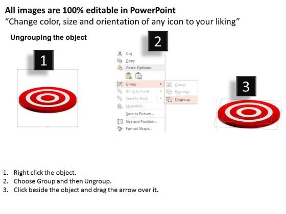 business_diagram_leader_with_team_on_target_board_presentation_template_2