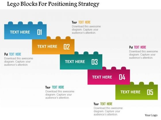 business diagram lego blocks for positioning strategy presentation