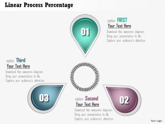 Business Diagram Linear Process Percentage Presentation Template