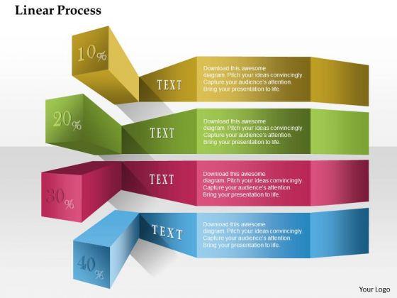 Business Diagram Linear Process Text Percentage Presentation Template