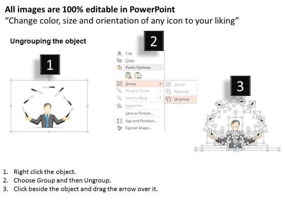 business_diagram_man_juggling_with_knives_presentation_template_2
