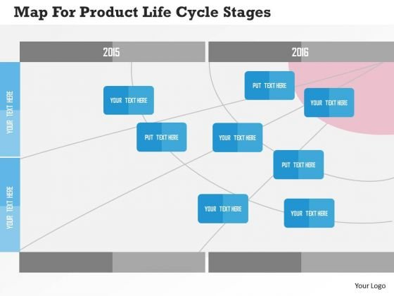 Business Diagram Map For Product Life Cycle Stages Presentation Template