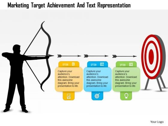 Business Diagram Marketing Target Achievement And Text Representation Presentation Template