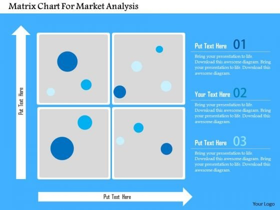 Business Diagram Matrix Chart For Market Analysis Presentation Template