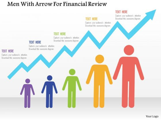 Business Diagram Men With Arrow For Financial Review Presentation