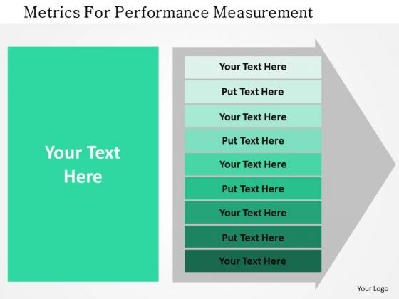 Business Diagram Metrics For Performance Measurement Presentation Template