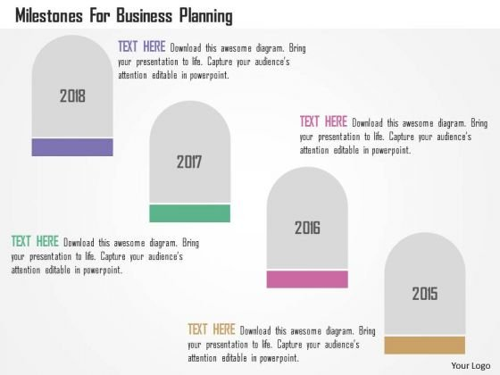 Business Diagram Milestones For Business Planning Presentation Template