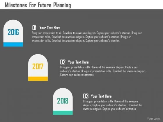 Business Diagram Milestones For Future Planning Presentation Template